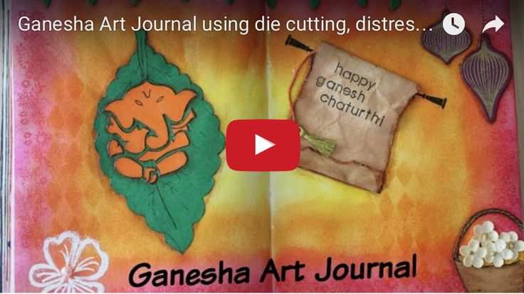 """Ganpati Bappa Morya. Pudchya varshi lavkar ya"". In today's video, I share how to make this beautiful Ganesha art journal inspired by Vicky Papaioannou"