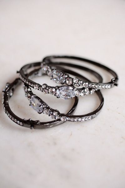 I love the delicate Edwardian-esque stones but the black metal keeps it from being too formal to wear to the store