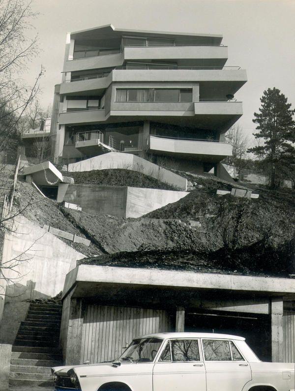 "germanpostwarmodern: ""Apartment Building (1960-61) in Stuttgart, Germany, by Chen Kuen Lee """