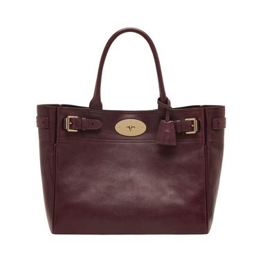 Mulberry - Bayswater Tote in Oxblood Natural Leather