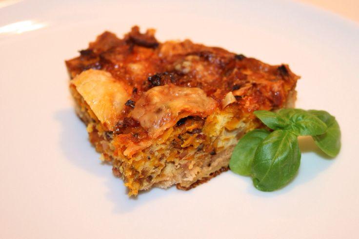 Pumpkin-Bacon Quice - Kürbis-Speck-Quiche