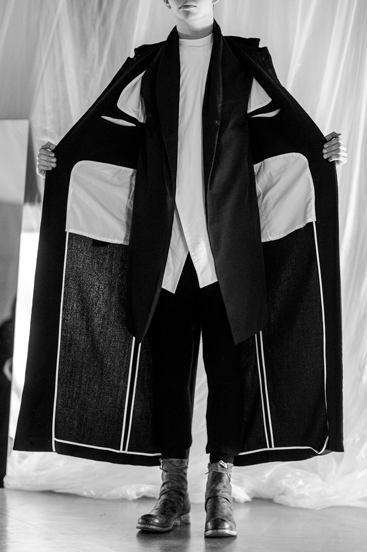 Sewing Inspiration - Inside coat details. Obscur  AW13