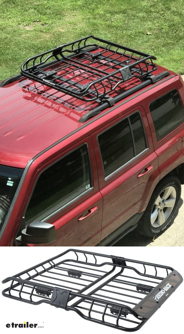 Rhino Rack Roof Mounted Steel Cargo Basket 47 Long X 35 Wide