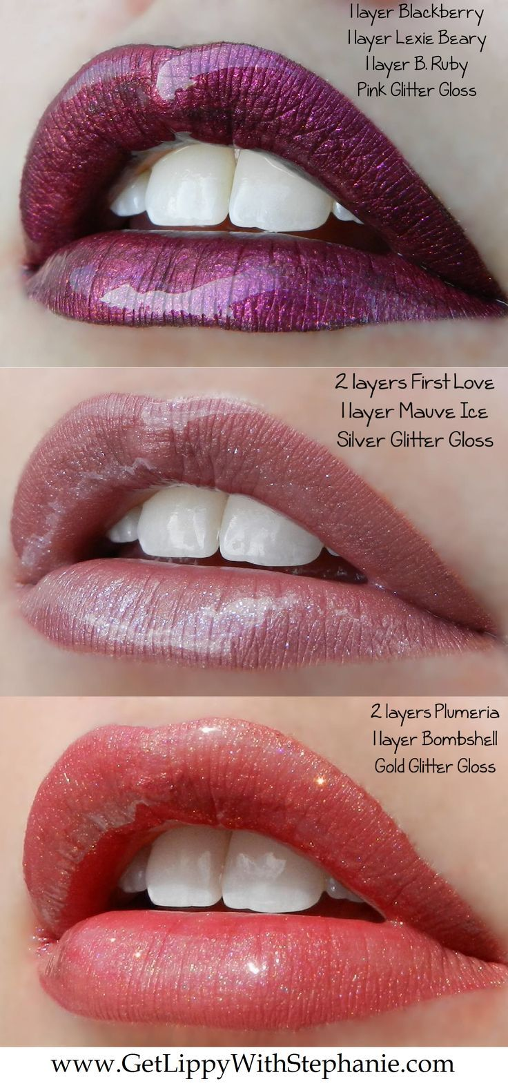 LipSense colors can be layered for AMAZING looks!