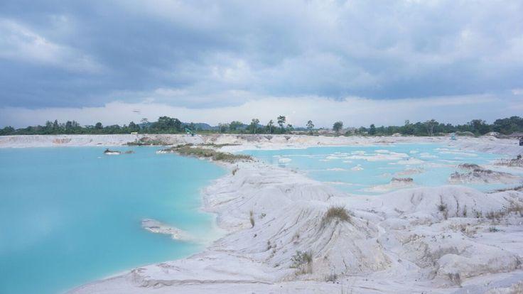 Danau kaolin. Bangka belitung. Indonesia