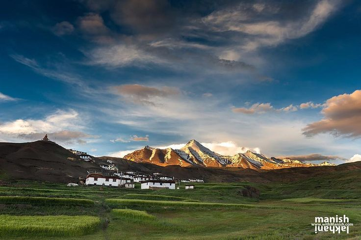 One of my favourite place in this planet earth. I took this image of sunset while leading summer Himalayan photography workshop. . Tiny hamlet of 22 houses located at base of 20000 feet massif of Chau Chau Kang Nilda village Langza is also known as Switzerland of Spiti. Langza is no ordinary village. Located above 14000 feet in Spiti Valley at the crossroads between Tibet and India. Trek over Parang La will take to Korzok in Rupsu valley of Changthang and trek is known as Kibber - Korzok…