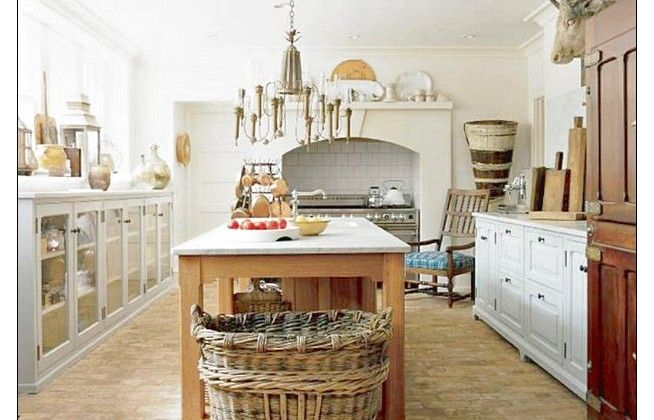 Natural Rustic Kitchen With Big Basket Design