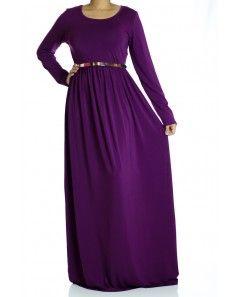 Eggplant  Milk Silk Maxi Dress (Tall)