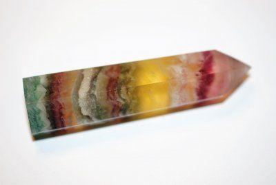 Regnbågsfluorit,+spets+Rainbow+75x20mm+AAA