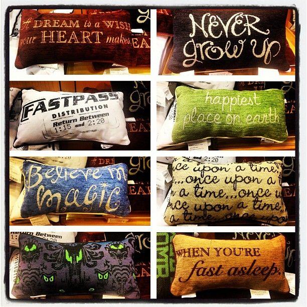 Disney pillows!