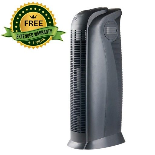 The ION390 UV Air Purifier offers complete air purification by combining HEPA filtration, UV light and negative ionisation. Live and breathe air that's free of dust, bacteria, viruses and odours. Suitable for large rooms up to 60 sqm. Use it in your living room, dining area or bedrooms. Automatically detects when the filter needs cleaning or replacing. Timer options for 1, 2, 4, 6, and 8 hours.