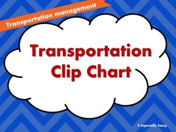 Transportation Management Includes: Bus Rider with 6 smaller cards to denote bus#, Car Rider, Walker, and Prime Time (daycare after school) Display this student/teacher friendly transportation chart in your classroom so that it makes dismissal tiime run a lot smoother.