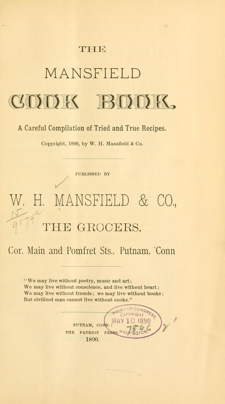 The Mansfield cook book