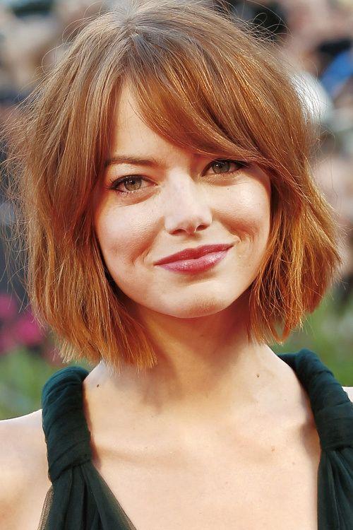 Cute bob hairstyle - Emma Stone                                                                                                                                                                                 More
