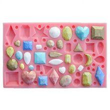 Бесплатная доставка много драгоценного инструменты для приготовления пищи фондант DIY выпечки силиконовые шоколада украшения плесень леденец глины(China (Mainland))