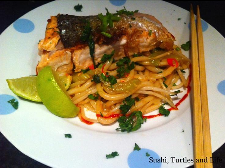 Sushi, Turtles and Life: Wagamama Udon Salmon