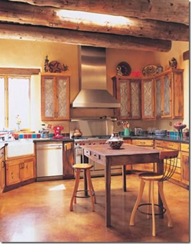 southwest kitchens |  southwestern, pueblo-style