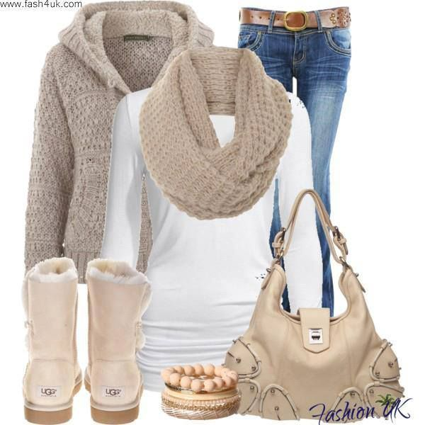 white, tan, blue, I have the boots and the sweater in black