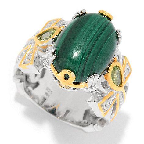 160-677 - Gems en Vogue Cleopatra 14 x 10mm Gemstone Ankh Symbol Ring