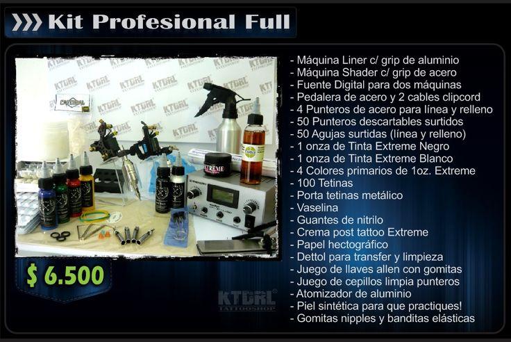 Kits Tatuaje Tattoo Tatuar Tintas Insumos Para Tatuadores - Centro - $ 3.700,00 en MercadoLibre