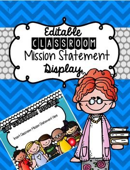 Creating a classroom mission statement is personal and meaningful to your students. They have a chance to take part in creating expectations for both themselves and their peers as well as set goals for success. After creating a mission statement together, it is important to display and practice reciting this statement.