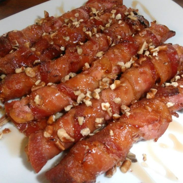 Bacon Wrapped Sesame Bread Sticks #bacon #recipe