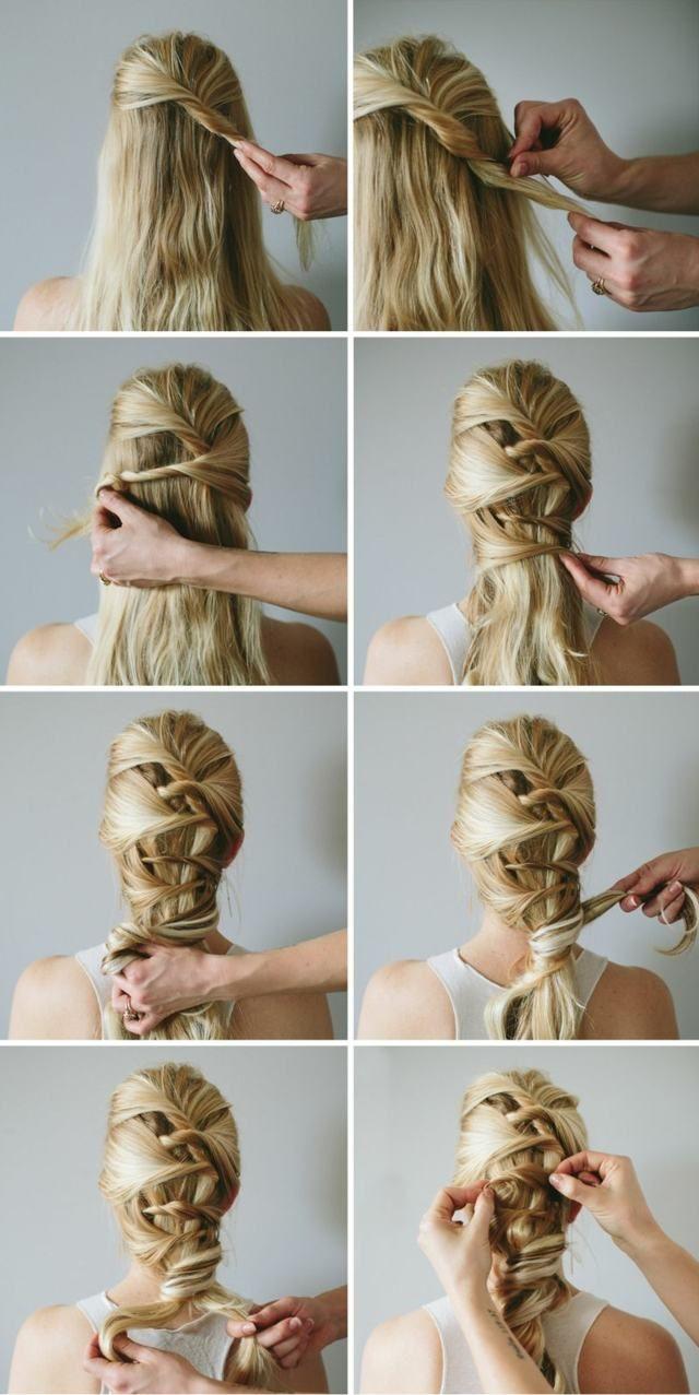 Flechtfrisur Band einflechten Oktoberfest Wiesn #hairstyle #tutorial#dirndl…
