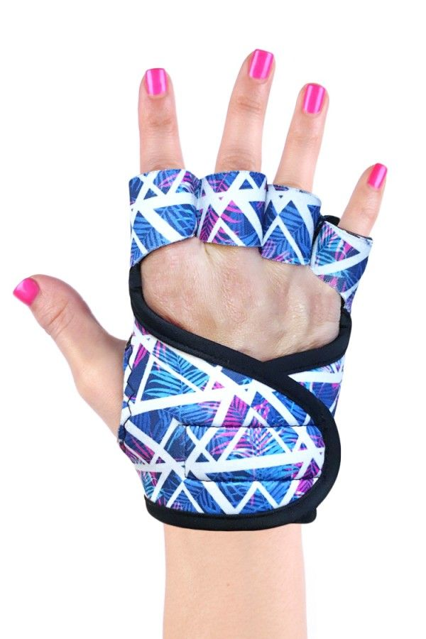 Miami Vice ⋅ Gelometrics are the best gel cushioned studio workout gloves for women