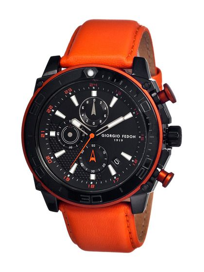 Giorgio Fedon 1919  Men's Speed Timer Iii Leather Watch  NZ$438.50 Gilt