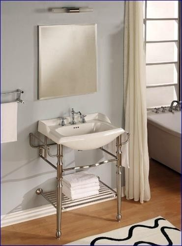 Images Of Empire Empire Metal Console Bathroom Vanity With Polished Chrome Finish And Two Leg Design Bathroom Vanities