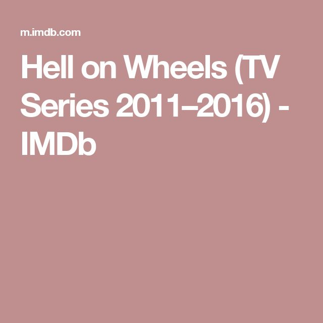 Hell on Wheels (TV Series 2011–2016)         - IMDb