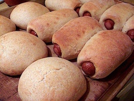 Easy homemade whole wheat pigs-in-a-blanket