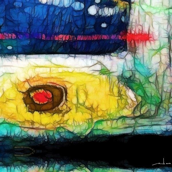 Yellow Eye  Digital Artwork over original photo 50 x 50 cm  rcn