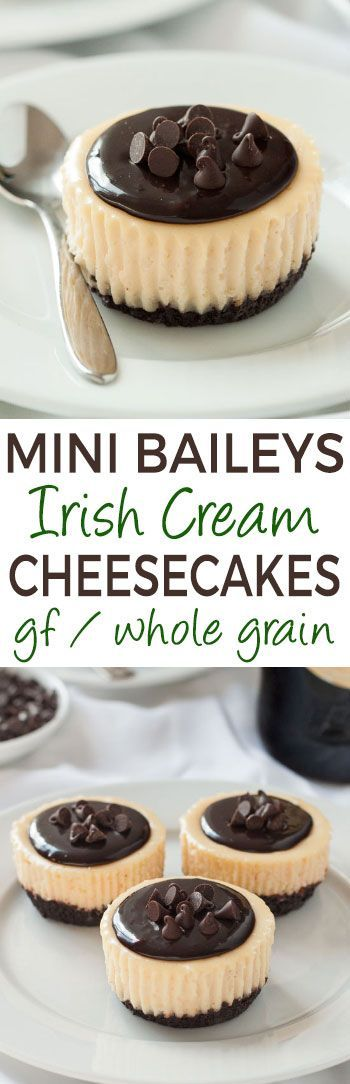 These mini Irish cream cheesecakes feature a simple and totally from scratch chocolate cookie crust. Can be made with all-purpose flour, whole wheat flour or gluten-free flour.