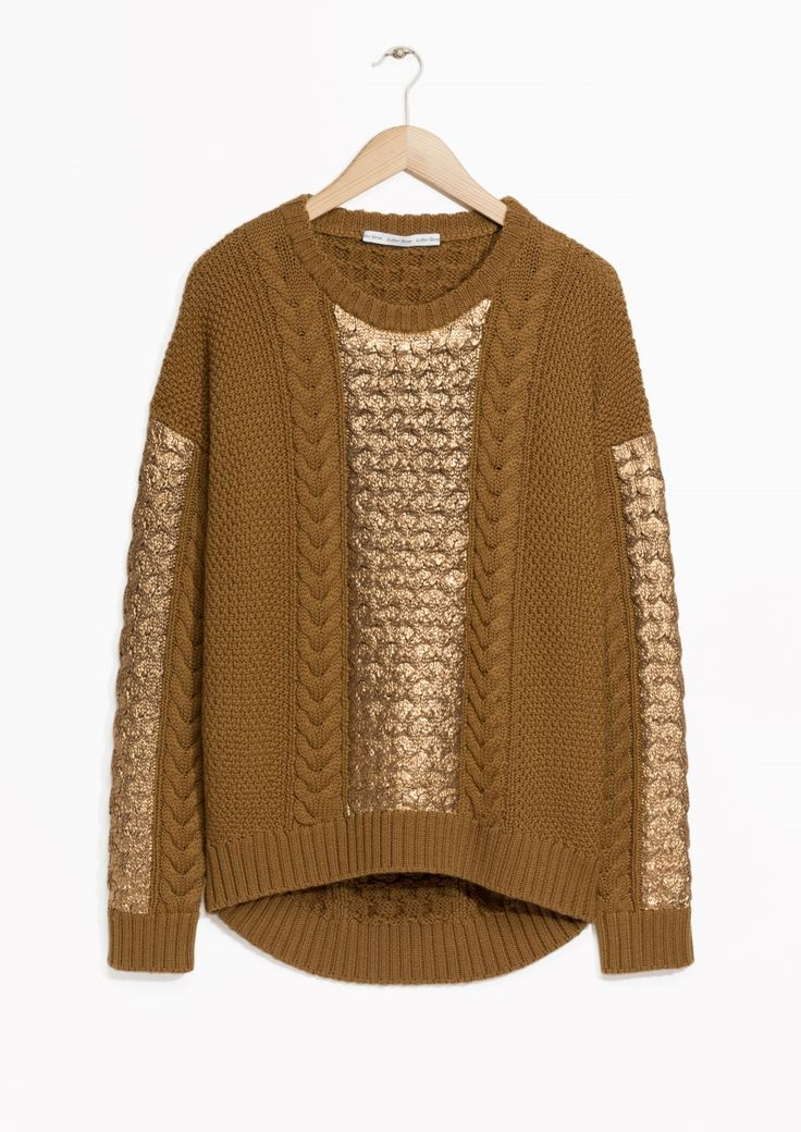 & Other Stories | Metallic Coated Sweater