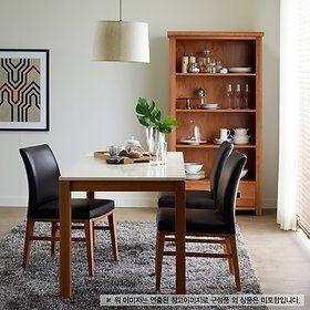 콜라보 화이트 상판 대리석 4인 식탁 세트 - 한샘 collabo white marble dining table with 4chair - hanssem