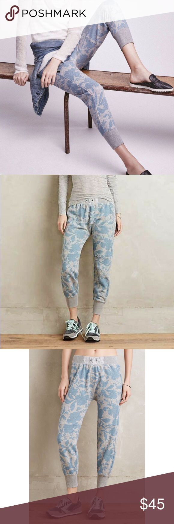 """Anthro Saturday Sunday Right Field Joggers Adorable joggers. No flaws except tag has come undone on one side. Waist 13"""" unstretched, Rise 12"""", inseam 24.5"""" Anthropologie Pants Track Pants & Joggers"""