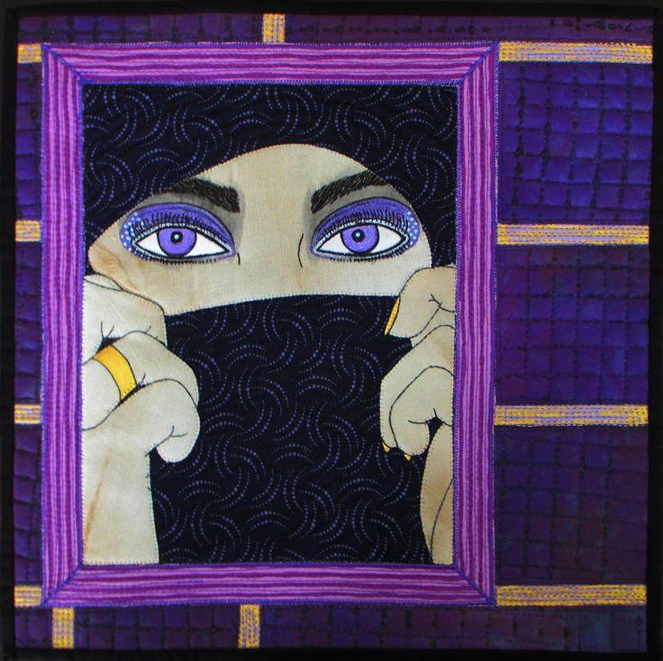 Hidden Beauty II Aotearoa Quilters Purple Challenge Exhibition 2014 Manawatu Symposium Exhibition 2015 #sophiewoodartist #sophiewood #artquilt #textileart www.sophiewoodartist.com