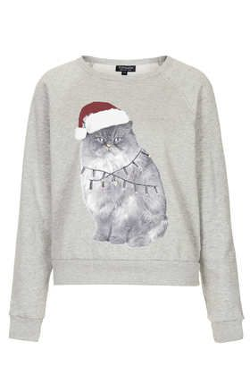 If the Christmas Cat Sweater fits, wear it! @Polyvore #ShopPolyvore
