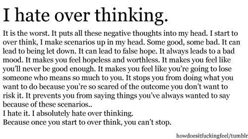 over thinking quotes - Google Search