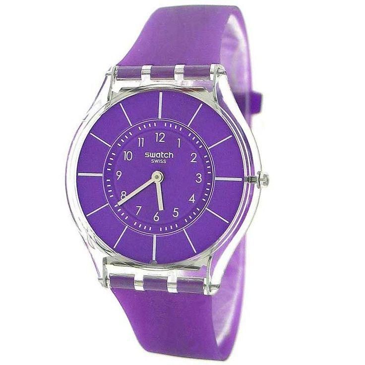 Swatch SFK365 Women's Purple Classiness Swiss Made Purple Plastic Strap Watch