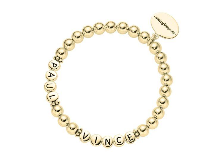 ladies golden silver letter bracelet 2