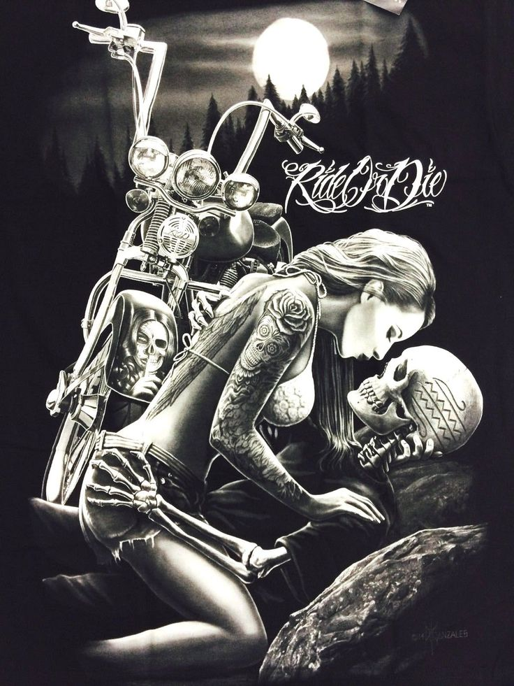 DGA Lovers T Shirt Ride or Die David Gonzales Art Tee 2014 Fall Rod Clothing | eBay
