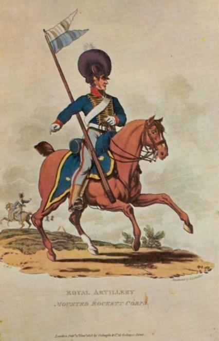 1815 British Mounted Rocket Corp. of Royal Artillery. Phuniformes.be