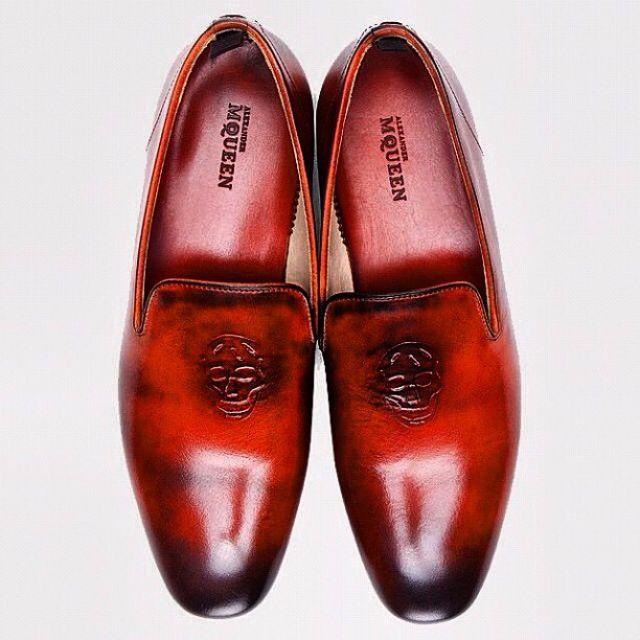 Fancy - Alexander McQueen Tan Leather Dress Shoes for Men