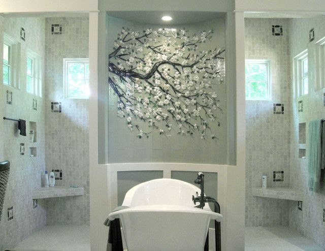 Placing A Tile Mural Inside A Niche And Spotlighting It Showcases It For  The Work Of