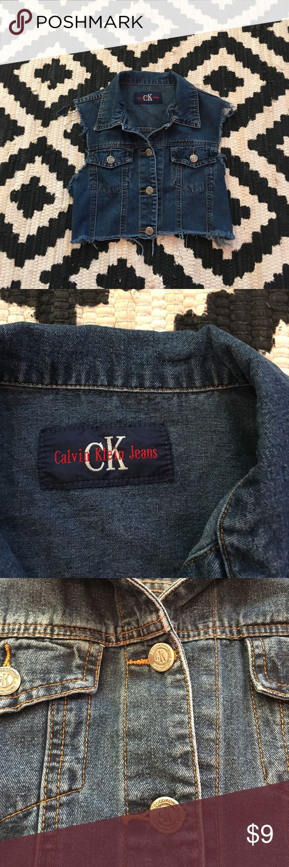 Calvin Klein jean vest Calvin Klein jean vest, good condition, Size Small, tag missing. Calvin Klein Jeans Jackets & Coats Vests