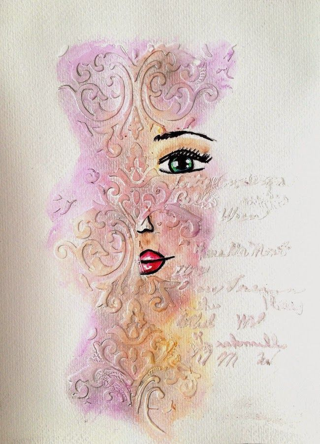ART JOURNAL PAGE | SPEECHLESS | Nika In Wonderland Art Journaling and Mixed Media Tutorials