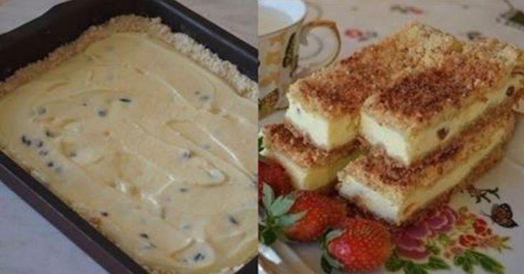 Omlós túrós sütemény – Ez a legjobb, amit túróból készíthetsz!