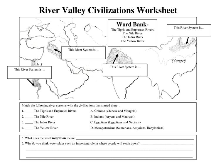 early civilizations worksheet river valley civilizations worksheet tcc early civilization. Black Bedroom Furniture Sets. Home Design Ideas